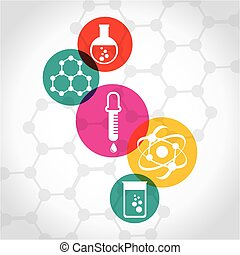 chemistry concept design, vector illustration eps10 graphic