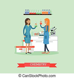 Chemistry concept vector illustration in flat style