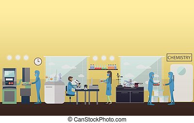 Chemistry concept vector illustration in flat style.