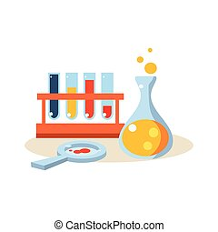 Chemistry. Education Design Vector Illustration