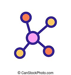 Chemistry formula icon vector. Isolated contour symbol illustration