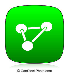 chemistry green icon for web and mobile app