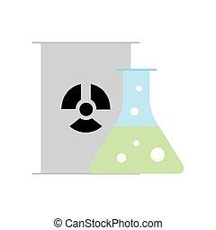 chemistry hazard test tube barrel radiation vector...