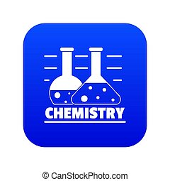 Chemistry icon blue