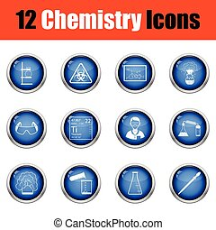 Chemistry icon set.