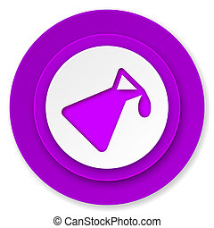 chemistry icon, violet button