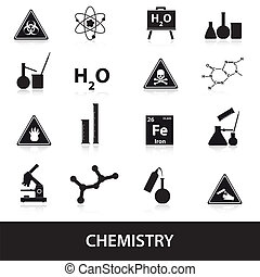 chemistry icons set eps10