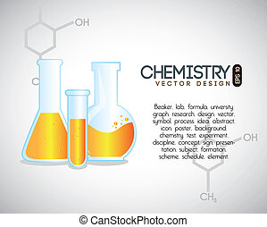 chemistry over gray background vector illustration