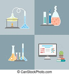 Chemistry infographics banners