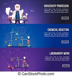 Chemistry Lab Colored Banner Set