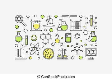 Chemistry lab colorful illustration