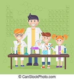 Chemistry laboratory, education concept