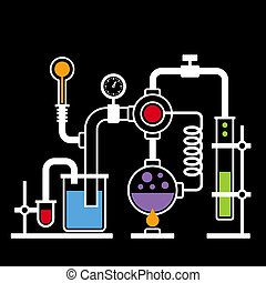 Chemistry Laboratory Infographic Set 2