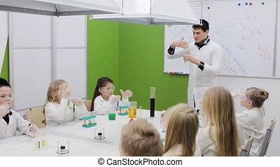 chemistry lesson in primary school