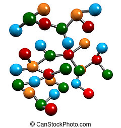 Chemistry Molecular Elements - Molecules in a chemistry...
