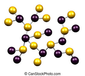 Chemistry Molecules Structure Isolated on a White Background