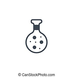 Chemistry related vector glyph icon.