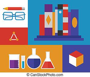 Chemistry retro illustration