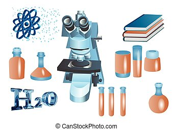 chemistry set vector