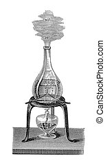 Chemistry: transition from boiling water to vapor. -...