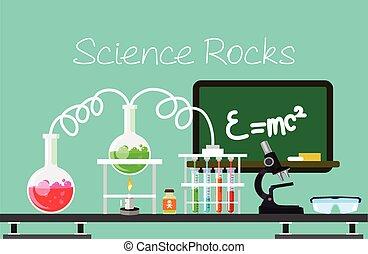 Chemistry vector flat illustration