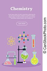Chemistry Web Banner. Website template.