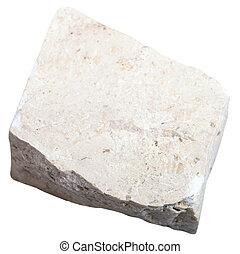 chemogenic Limestone stone isolated - macro shooting of...