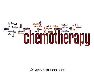 chemotherapy, słowo, chmura