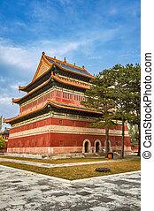 chengde, anyuan, temple, temples, extérieur, porcelaine, chengde, huit