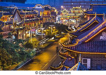Chengdu, China at Qintai Street.