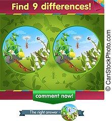 chenille, fourmi, différences, 9