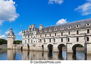 Chenonceau castle in the Loire Valley, France