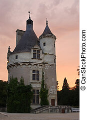 Chenonceau Castle - tower of Chenonceau Castle, France