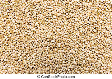 Golden Quinoa seed. Closeup of grains, background use.