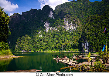 Cheo Lan lake. Khao Sok National Park. Thailand.