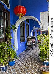 Blue Mansion - Cheong Fatt Tze's Blue Mansion in Georgetown,...