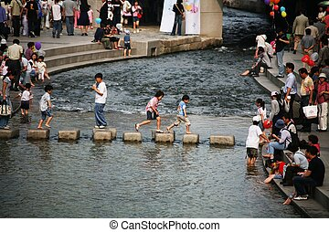 Cheonggyecheon, Seoul, South Korea