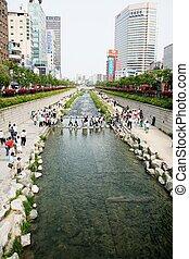 Cheonggyecheon, Seoul, South Korea