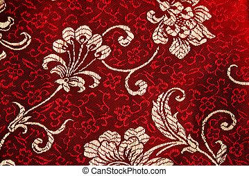 Cheongsam floral detail