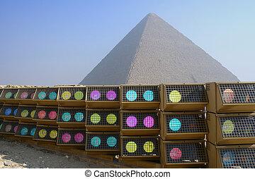 cheops の ピラミッド, 中に, エジプト