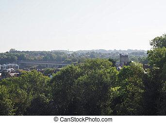 Chepstow Railway Bridge (originally designed by Brunel) in Chepstow, UK