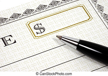 Cheque 3 - Photo of a Blank Cheque