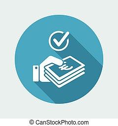 cheque, efectivo, -, pago, euro