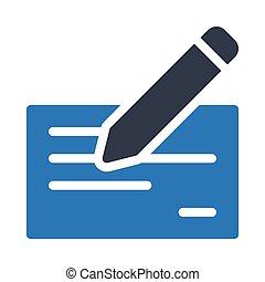 cheque glyph color icon