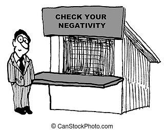 cheque, negatividad, su
