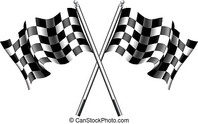 chequered, 旗, モーターレース