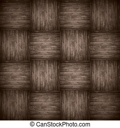 chequered pattern wooden brown background