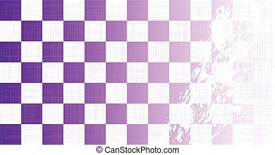 Chequered Purple Grunge