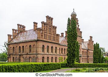 chernivtsi, nacional, universidad, edificio, mencionado, en, unesco, mundo, herencia, sitio., ucrania