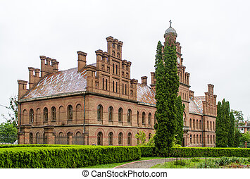 Chernivtsi National University building, listed in UNESCO...
